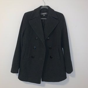 Kenneth Cole Reaction Pea Coat Button Down Jacket